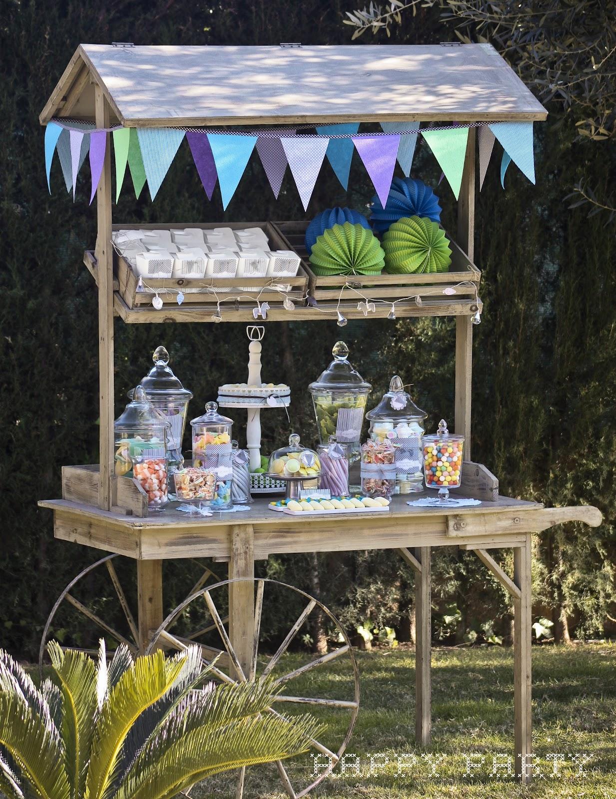 El carro de golosinas para la comuni n de manuel happy party - Carro de chuches comunion ...