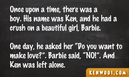 blackboard ken barbie 1