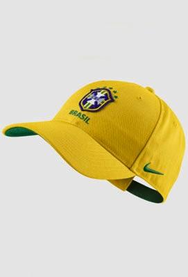 boné amarelo seleção Brasil Nike