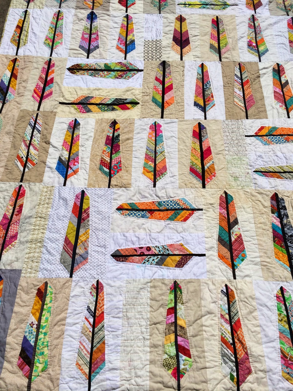 Sunny Bees of a Feather Quilt / charm about you : anna maria horner feather quilt - Adamdwight.com