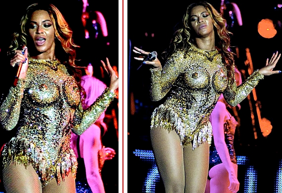 nipple outfit Beyonce