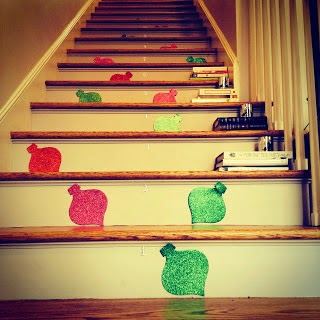 Decorated Stairs Christmas