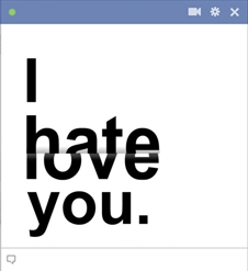 I Hate/Love You Emoticon