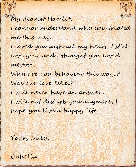 Ophelia S Adornments Blog May 2012: The To Be Experience: Love Letters To Hamlet