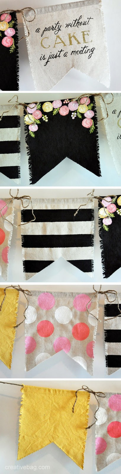 cute diy bunting inspiration for parties, weddings and special events | creativebag.com