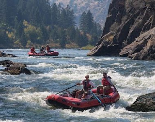 rafting down river