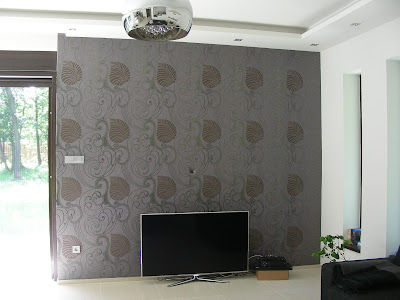 Marburg wallcoverings in livingroom.
