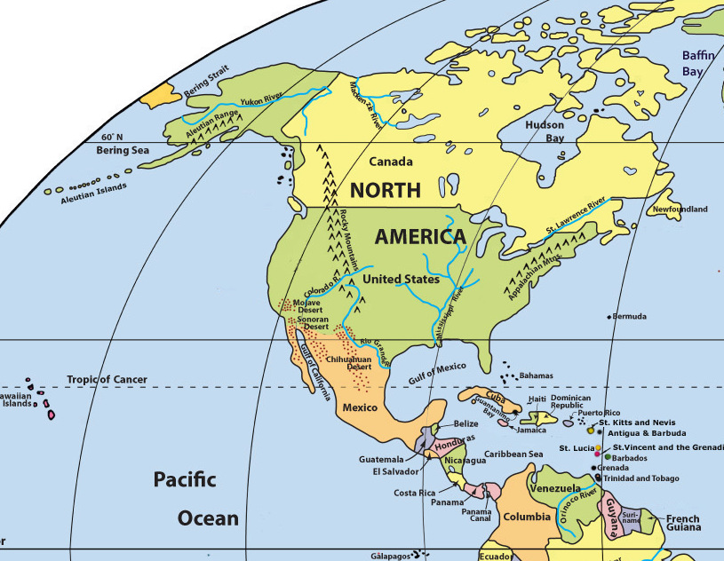 Mr Shen\'s History Class: North and South America Maps