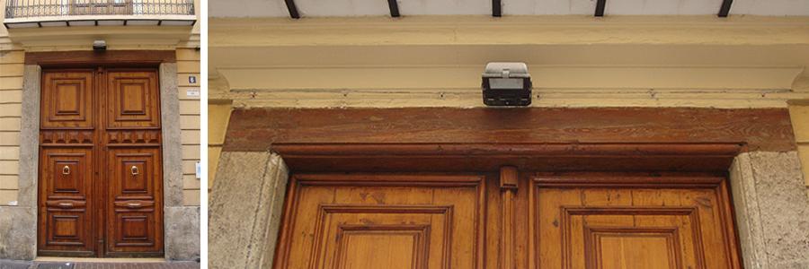 A plomo y a nivel arco o dintel - Dintel de madera ...