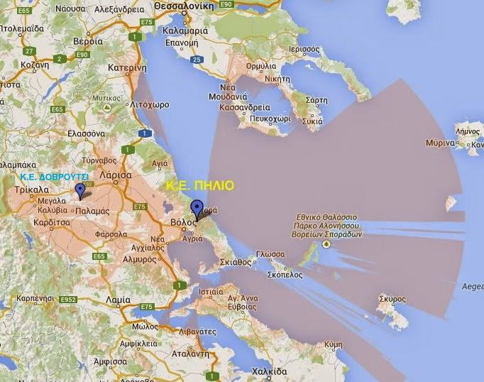 Χάρτης κάλυψης ψηφιακού σήματος για τη ψηφιακή μετάβαση της Θεσσαλίας...