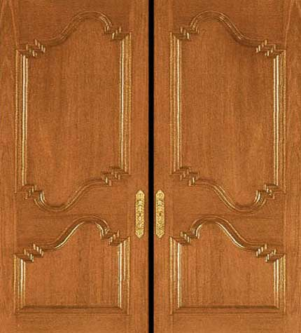 New collection kerala model wooden front door double for Double door wooden door