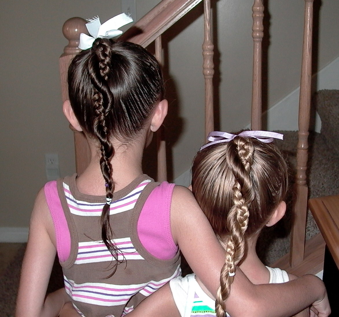 Little Girl's Hairstyles: French Braid Twist Around ...