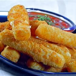 Fried Mozzarella Cheese Sticks