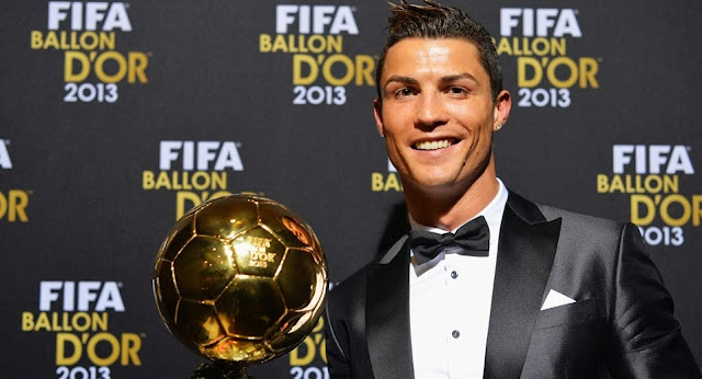 Cristiano Ronaldo meraih FIFA Ballon d'Or 2013
