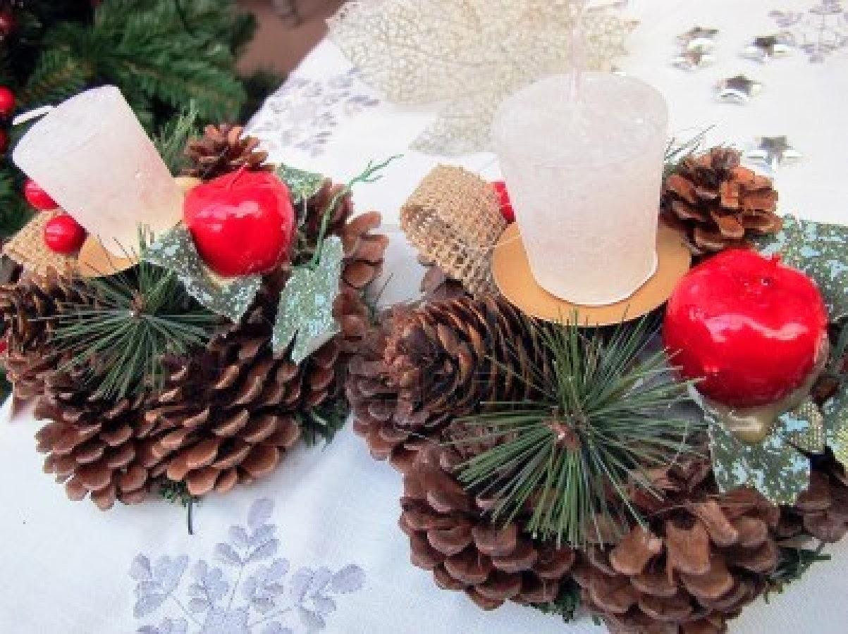 Centros de mesa de navidad rojos parte 1 for Centro mesa navidad