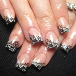 Nail Art Quality Bodily Manicure With Lace Nail Art Collection