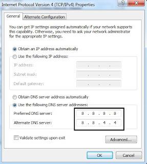 merubah DNS google