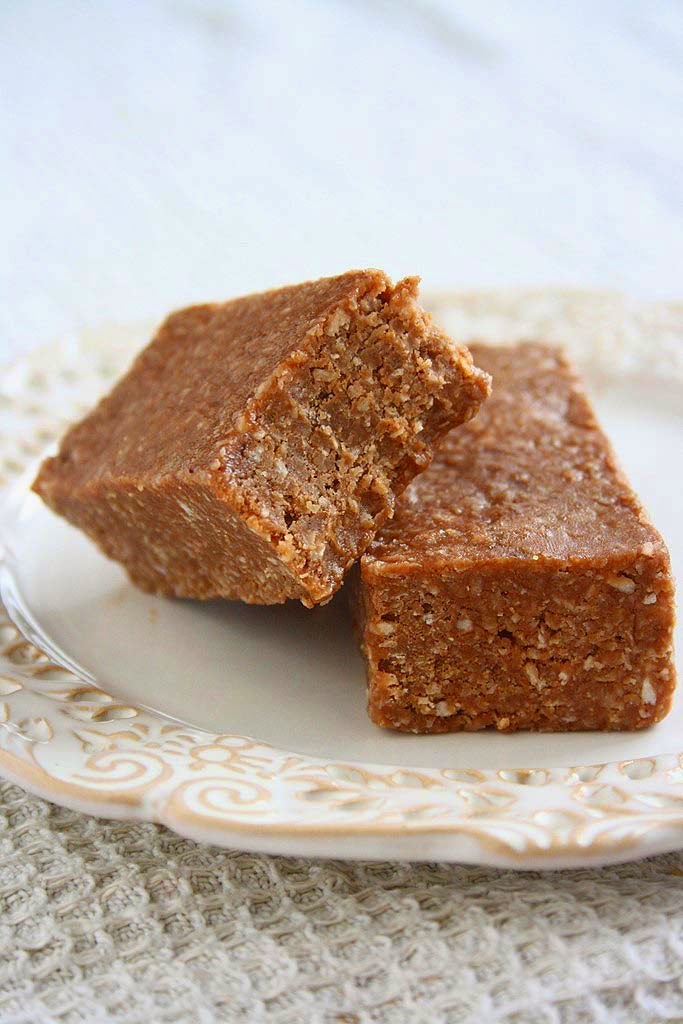 ... memories: Chocolate Peanut Butter Oat Bars (No-Bake, Healthy