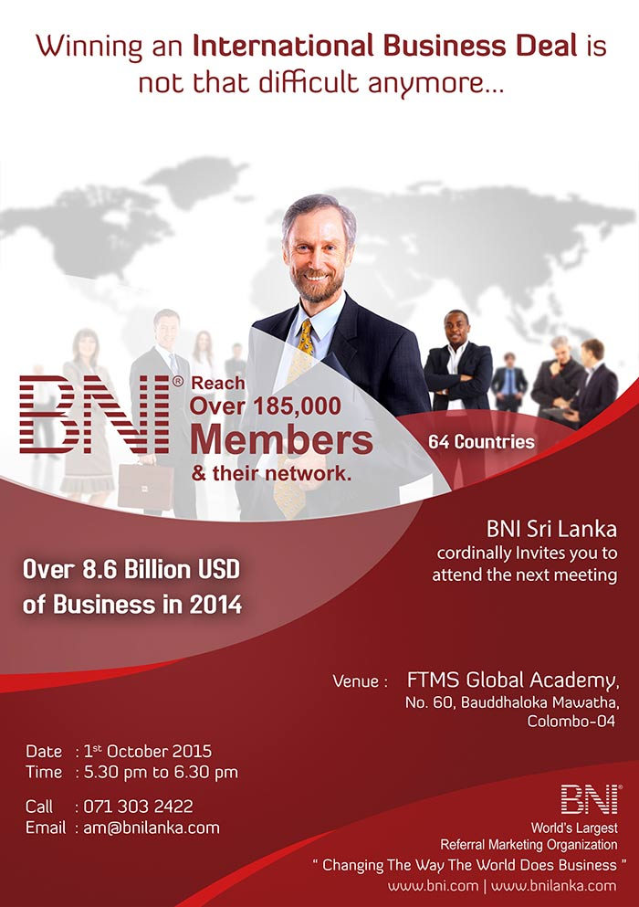 BNI is the largest business network in the world, with over 150,000 members worldwide. It is a community for business professionals to share ideas and contacts while providing each other with valuable referrals to help business growth