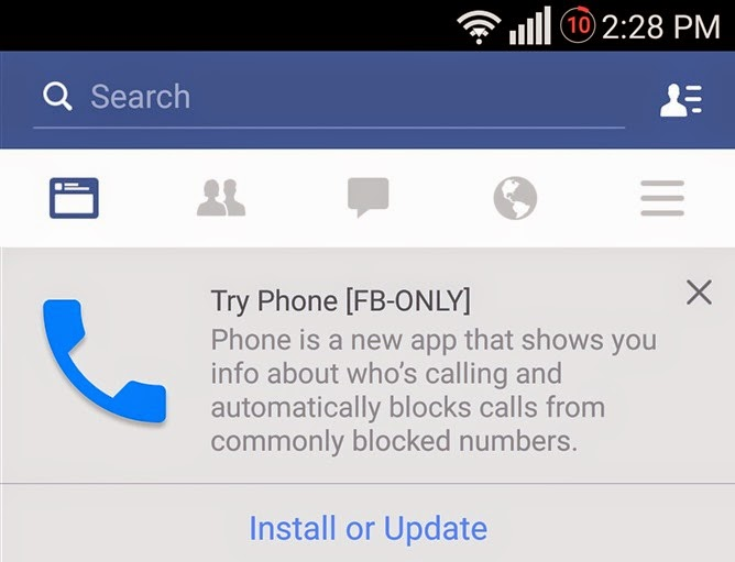 Facebook feature, Facebook Phone app, free calling app
