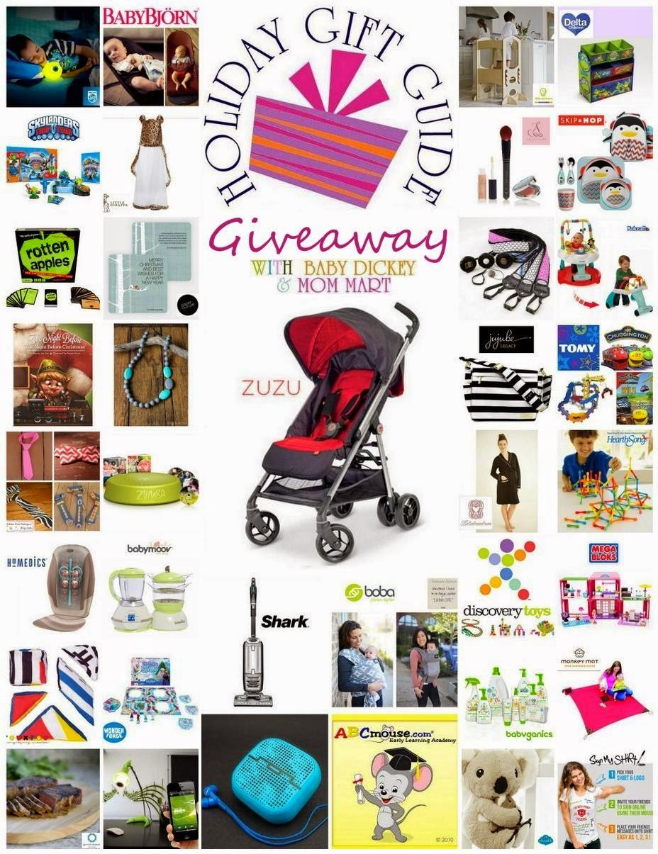 2014 Ultimate Holiday Gift Guide Giveaway with Mom Mart & Baby Dickey and over $2700 in prizes!! #HolidayGiftGuide #HGG #Giveaway