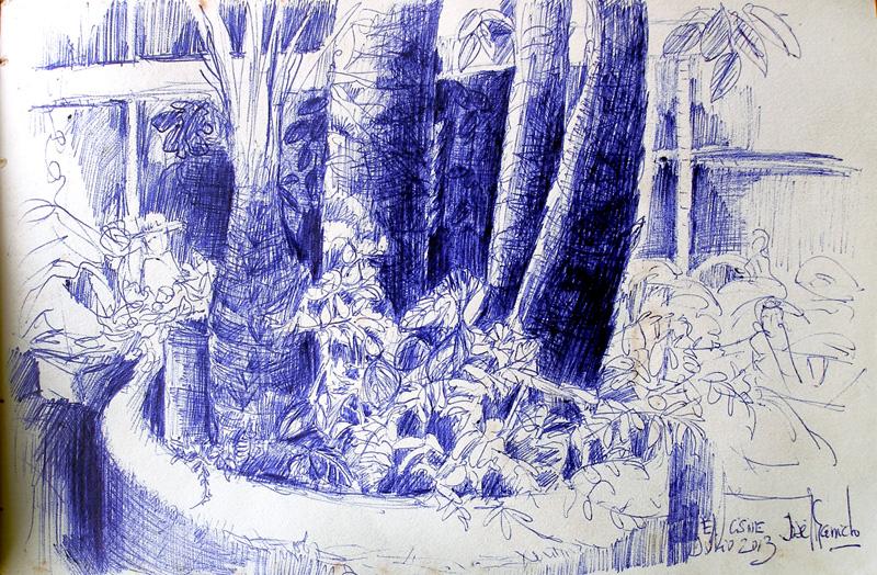 Artimaas Bocetos  rboles y paisajes Tintas y acuarelas