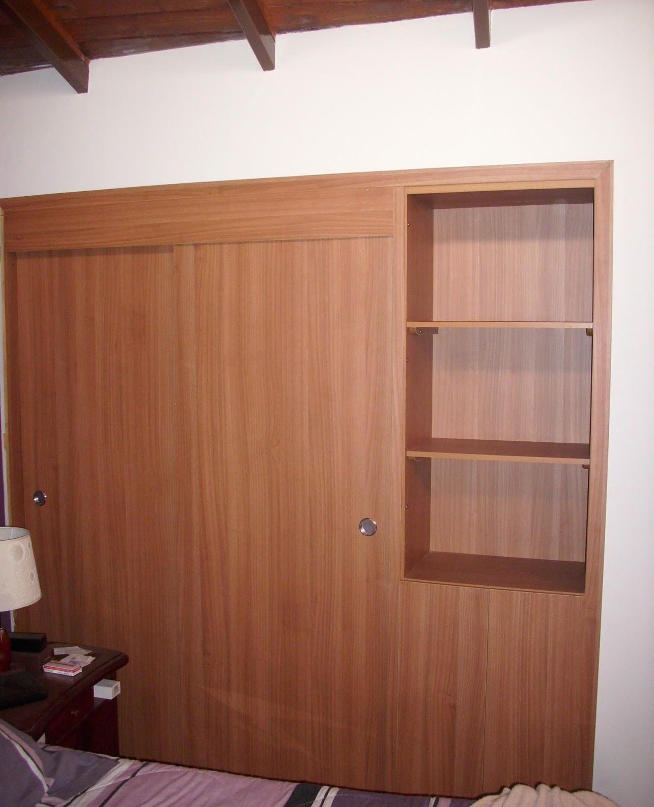 Mis trabajos en madera closets en melamina for Trabajos de melamina