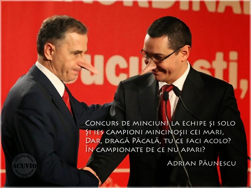 Mircea Geoană şi Victor Ponta Minciunile