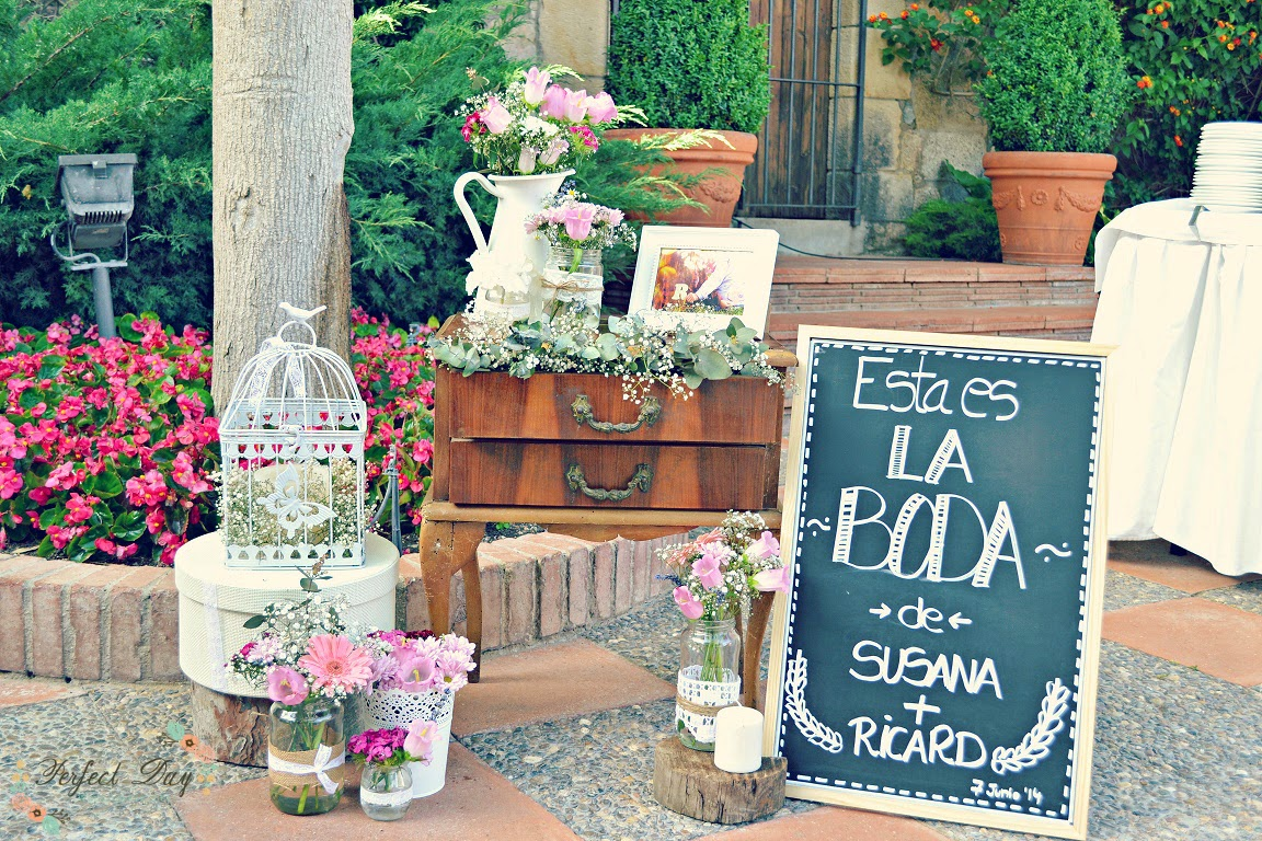 La decoraci n rom ntica de la boda de susana y ricard for Ideas originales de decoracion