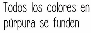 Todos los Colores en Purpura se Funden