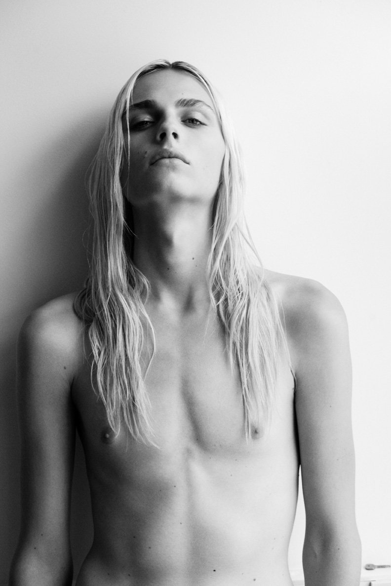 Androgynous boy models