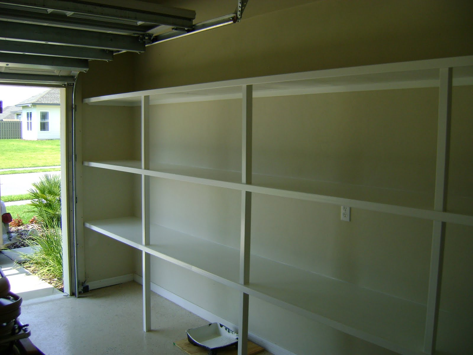 of done custom simply organized garage wall shelf by shelving img