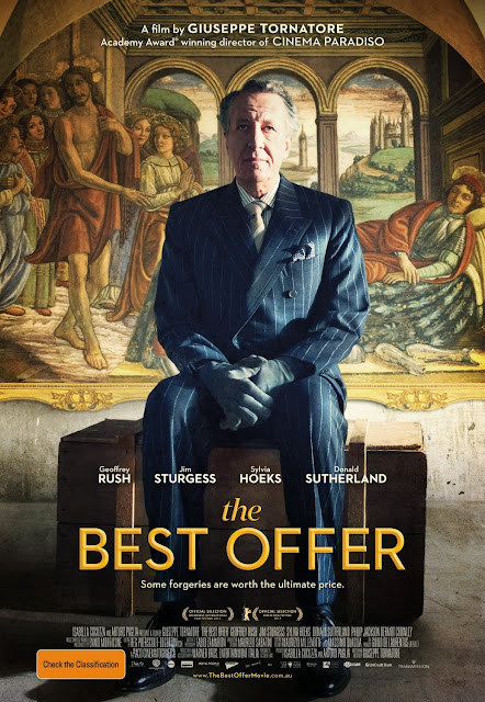 The Best Offer, English Poster, Directed by Giuseppe Tornatore, starring Geoffrey Rush, Jim Sturgess, Sylvia Hoeks