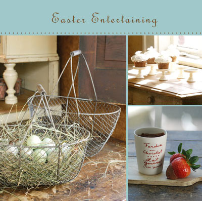 Farmhouse musings a farmhouse wares easter we think easter is the perfect time to add a little farmhouse style to your decorating and gift giving ideas create a rustic country style easter basket negle Images