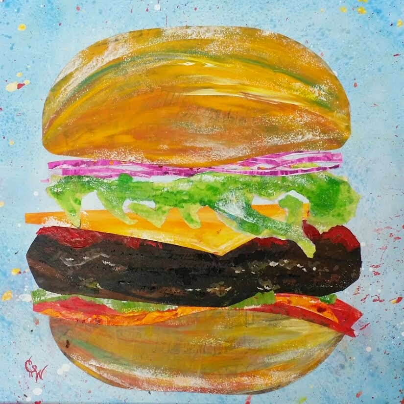 Hamburger Painting selected for VAL Calendar and FOODIE Exhibit