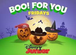 my three year old loves disney junior and has loved watching the new halloween episodes of his favorite shows as part of boo for you