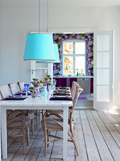 T rkisfarbene lampenschirme christine oertel interior design for Belle maison interieur design