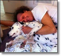 Picture o Richard Simmons and his dog