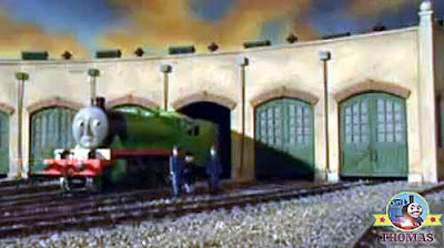 The Fat Controller steam locomotive Henry the green engine Thomas Tidmouth engine shed Sodor railway