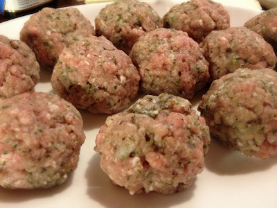 raw meatballs