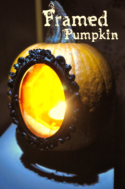 halloween crafts: diy framed pumpkins