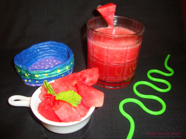 images for Watermelon Juice Recipe - A Summer Drink Recipe