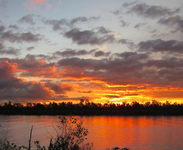 Orange sunrise from the Port Weller West Pier.