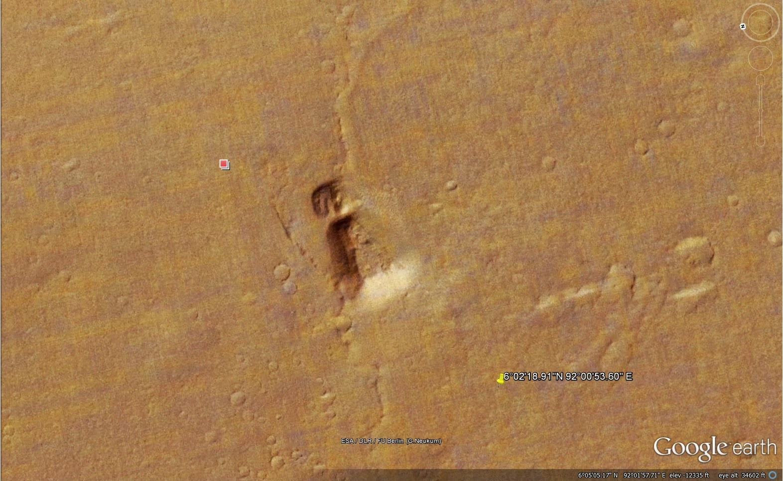 how to go to mars on google earth 2018