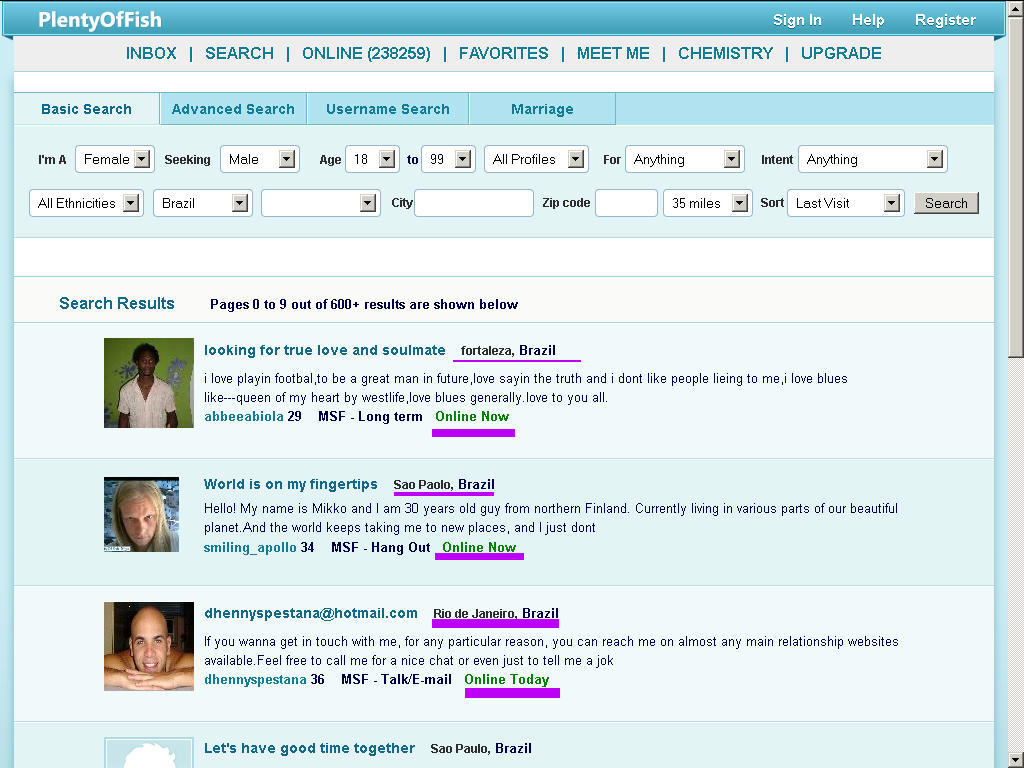 breaking the online dating sound barrier  you can search at pof and see by your own