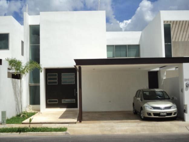 Fachadas de casas modernas fachada de casa residencial for Cocheras minimalistas