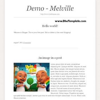 Melville Blogger Template convert from wordpress theme to blogger. minimalist design blogger template