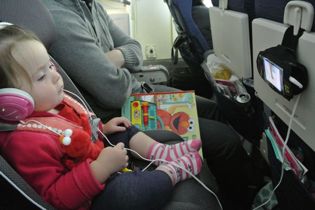 Sam At Age 17 Months Happily Sitting In Her Carseat On The Plane Seat Is Slender Enough To Leave Plenty Of Room Economy Section For Mom And Dad