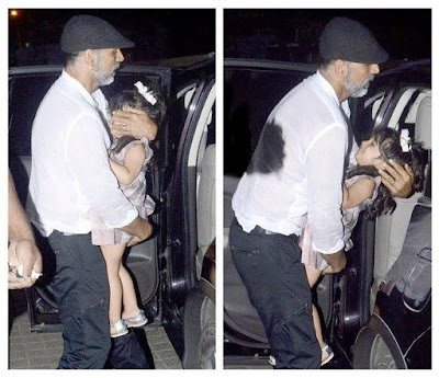 Akshay Kumar and his daughter Nitara spotted  at PVR