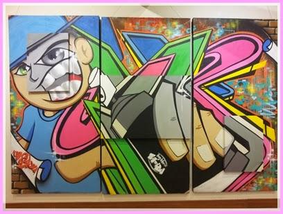 Exposição de grafismo no Centro de Artes Visuais em Cabo Frio
